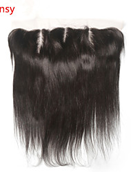 Full Lace Straight Human Hair Closure Medium Brown / Dark Brown Swiss Lace gram Cap Size