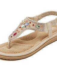 Women's Shoes  Flat Heel Slingback / Open Toe Sandals Casual White / Almond
