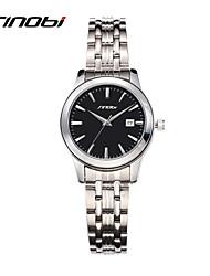 SINOBI® Watches Women's Quartz Steel Watch Female Fashion Relojes Date Black Round Surface Girl Wristwatches Mujer Cool Watches Unique Watches