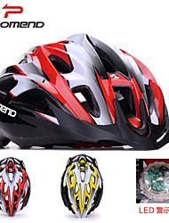 promend® casco de moto deportiva unisex / led de luz de seguridad 21vents casco protector paseo / montaña / ciclismo en carretera