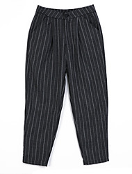 Women's Striped Gray Loose Pants,Vintage