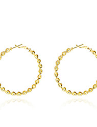 Women's 18K Gold Plated Hoop Earrings Trendy Twisted Round Circle Earrings(Color:Gold)
