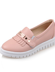 Women's Shoes Low Heel Platform / Round Toe Loafers Outdoor / Dress / Casual Black / Blue / Pink / White