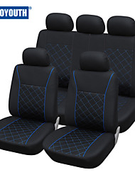 AUTOYOUTH Blue Line Car Seat Cover Universal Fit Most Car Covers Interior Accessories Black Colour Car Seat Protector