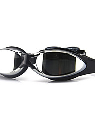 FEIUPE Swimming Goggles Women's / Men's / Unisex Anti-Fog / Waterproof / Adjustable Size / Anti-UV / Polarized Lense Silica Gel PCBlack /