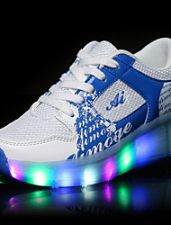 Boys' LED Shoes USB charging Athletic / Casual Fashion Sneakers Black / Blue / Pink