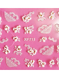 Абстракция-3D наклейки на ногти-Пальцы рук-10X7X0.1-1-Прочее