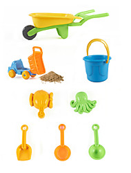 8-Pieces Beach Sand Toys Set with Trolleys, Loader, Bucket, Sand Shovel, Sand Funnel, Sand Spoon and 2-Model