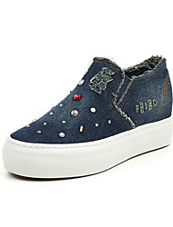 Women's Shoes Denim Platform / Creepers / Comfort / Loafers / Slip-on Outdoor / Casual Black / Dark Blue / Light Blue