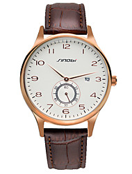 Men's Watch Contracted Design Watch Water Resistant Leather Students Quartz Watch with Calendar Wrist Watch Cool Watch Unique Watch