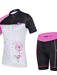 CHEJI Women's Breathable Short Sleeve Cycling Jersey + Bike Short Sleeve Suit