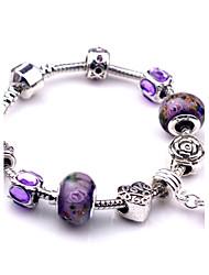 Bracelet Charmes pour Bracelets / Bracelets Vintage Alliage Soirée / Quotidien / Décontracté Bijoux Cadeau Violet,1pc