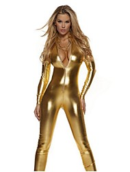 Ternos Zentai Morphsuit Ninja Fantasia Zentai Fantasias de Cosplay Prateado Preto Vermelho Dourado Cor ÚnicaCollant/Pijama Macacão