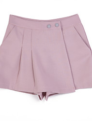 Women's Solid Pink Shorts Pants,Casual / Day