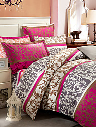 Double Bed Bedding Sets 3pcs (Quilt Case+Pillowcases) Pure Cotton Fabric
