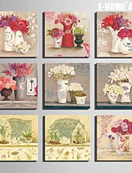 E-HOME® Stretched Canvas Art  Bunch Of Flowers In A Vase Series Decoration Painting MINI SIZE One Pcs