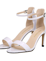 Women's Shoes Leatherette Stiletto Heel Heels / Open Toe Sandals Party & Evening / Dress / Casual Black / Red / White