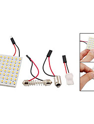 3528 smd conduit panneau 48 3528 blanc chaud led + t10 / module BA9S + double pointe (dc 12v)