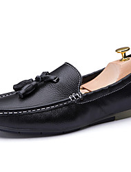Men's Shoes Wedding / Office & Career / Party & Evening / Athletic / Dress / Casual Nappa Leather Loafers Black / White