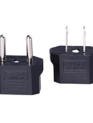 US Socket to EU Plug AC Power Adapter Plug with EU Socket to US Plug AC Power Adapter Plug (2 PCS)