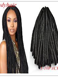 #1 / #1B Crochet dreadlocks Extensions de cheveux 18 Kanekalon Brin 100g gramme Braids Hair