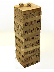 Número blocos de madeira jogos de quebra-cabeça jogos de tabuleiro de dominó jogos do cérebro