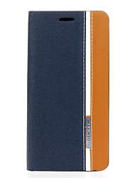Для Кейс для HTC Бумажник для карт / со стендом / Флип Кейс для Чехол Кейс для Полосы / волосы Твердый Искусственная кожа HTC
