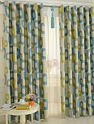 Two Panel European Contracted Fashion Style Of Children Room Sitting Room The Bedroom Curtains