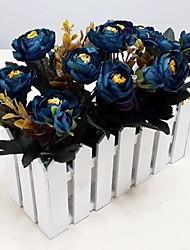 Silk / Plastic Camellia  Artificial Flowers with Vase