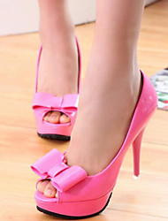 Women's Shoes Sweet Peep Toe Bowknot Stiletto Heel Comfort Heels Party & Evening / Dress