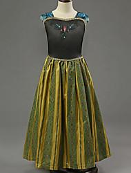 Girl's Black Dress,Floral Rayon Summer