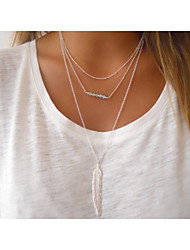 Women's Pendant Necklaces Crystal Alloy Fashion Simple Style Silver Golden Jewelry Party Halloween Daily Casual 1pc