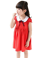 Girl's Floral Dress,Cotton Summer Red