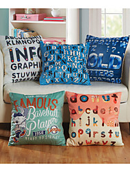 Baolisi Set of 5 Crossword puzzles Decorative Pillow /Children of the World