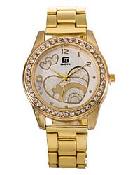 L.WEST  Women's Heart Shape Diamonds Quartz Bracelet Watch Cool Watches Unique Watches