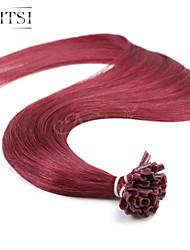 """neitsi 20 """"1g / с 50g кератина слияние у ногтей наконечник прямые Ombre человеческих волос 530 #"""