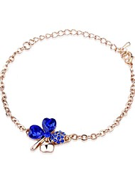 Hot New Charming Lovely Simple Bling Elegant Clover Bracelet Bangle Party Jewelry For Women