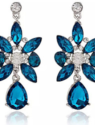 Earring Drop Earrings Jewelry Women Gemstone & Crystal / Alloy 2pcs Blue