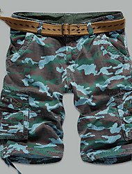 Tooling six pants shorts men outdoor camouflage pants loose pants pocket leisure Korean tide beach pants