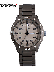 Men's Wrist watch Quartz Calendar Water Resistant / Water Proof Sport Watch Alloy Band Grey Brand SINOBI