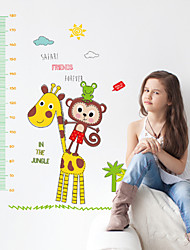 Wall Stickers Wall Decals Style New Cartoon Monkey King Deer Measure Your Height PVC Wall Stickers