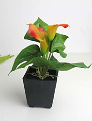 "6.3""H Unique Artificial Potting of Calla 1 set"