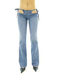 Women's Fashion Sexy Pure Color Bootcut Jeans Trousers