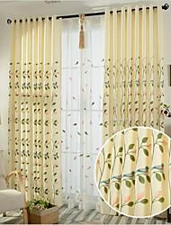 2 шторы Окно Лечение Деревня Спальня Лен/хлопок материал Шторы портьеры Украшение дома For Окно