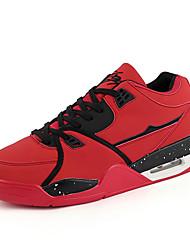Sapatos Basquete Masculino Preto / Vermelho / Branco Couro