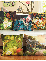 Baolisi Set of 5 Beautiful FlowerDecorative Pillow /European Imitation Paintings Series
