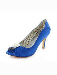 Zapatos de boda - Sandalias - Tacones / Punta Abierta - Boda / Vestido / Fiesta y Noche - Azul Real - Mujer