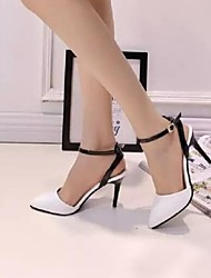 Women's Shoes Color Block Pump Buckle Stiletto Heel Comfort / Pointed Toe Heels Party & Evening / Dress