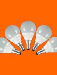 5 st FSL E14 / E26/E27 3W 5pcs SMD 2835 200 lm Varmvit / Kallvit G60 LED-globlampor AC 220-240 V