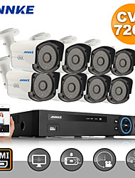 Annke®  8CH Channel 720P HDMI DVR HD CCTV Outdoor IR Home Security Camera System